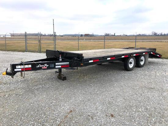 2015 CornPro 20' deckover flatbed trailer