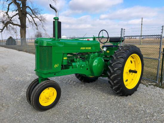 John Deere 60 antique tractor
