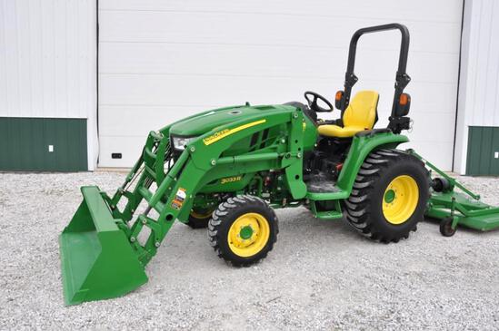 2014 John Deere 3033R MFWD compact tractor