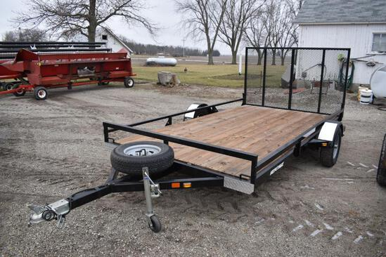 "Heritage single axle 78""x12' flatbed trailer"