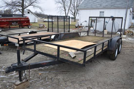 "Tandem axle 82""x16' flatbed trailer"