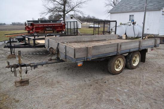 Shop built 7'x12' tilt deck flatbed trailer