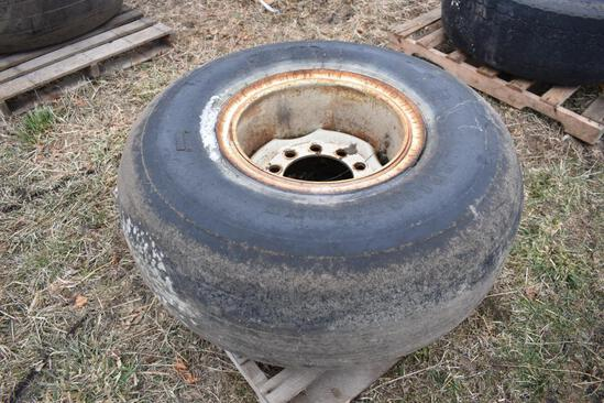 (1) 50x20/20 tire and wheel