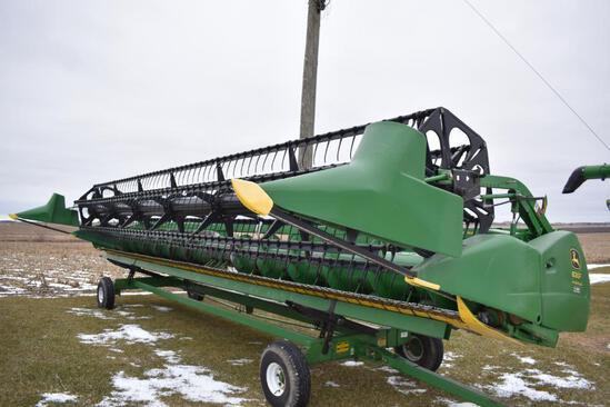 2008 John Deere 630F 30' HydraFlex platform