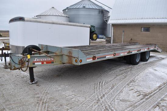 1997 Interstate 20DT 20' flatbed trailer