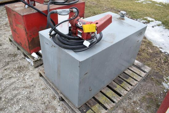 110 gal. fuel tank with pump