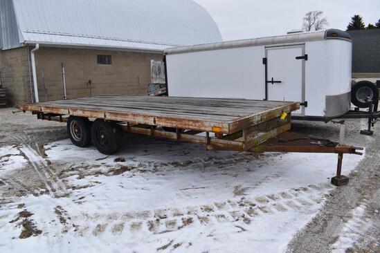 18' flatbed trailer