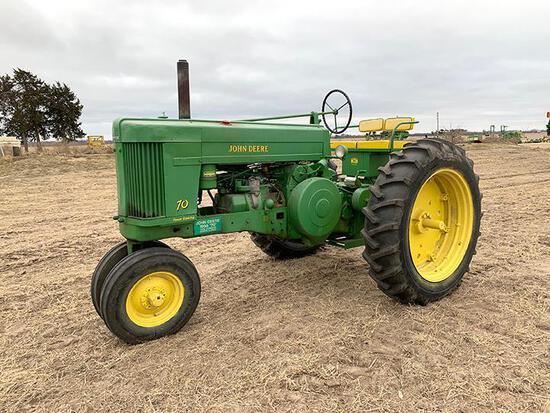 1955 John Deere 70 tractor