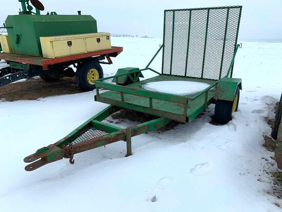 Shop built single axle trailer w/ ramp gate - no title