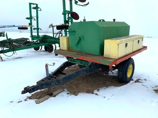 Service trailer w/400 gallon fuel tank & tool boxes