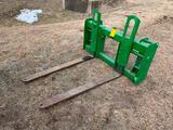 John Deere 673 loader quick attach pallet forks