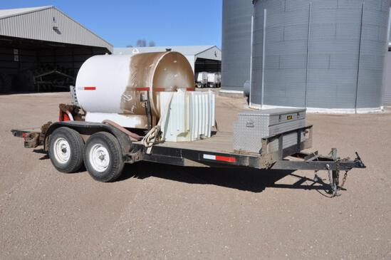 5'x16' flatbed fuel trailer