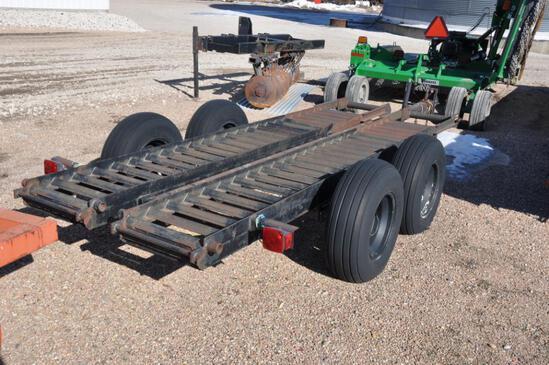 Shop built 14' flatbed trailer