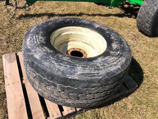 Spare tire & rim for wagons