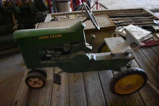 Antique John Deere pedal tractor