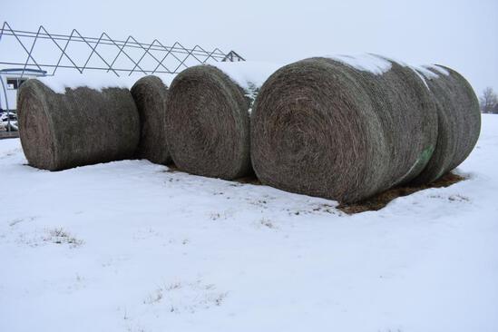 (27) First cutting grass round bales