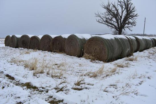 (10) 2019 first cutting grass round bales