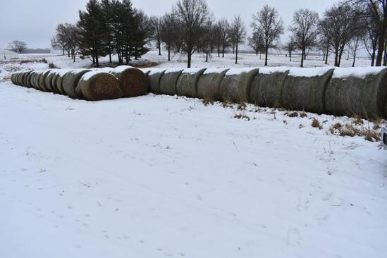 (25) 2019 first cutting grass round bales