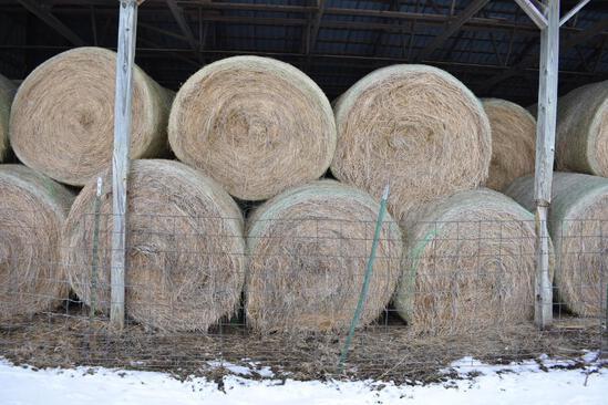 (14) 2019 first cutting grass round bales