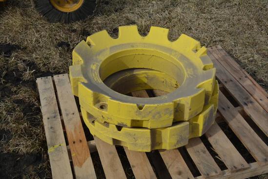 (2) John Deere 450 lb. rear wheel weights