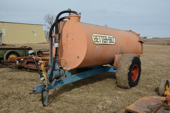 Better Bilt 1,500 gallon manure tank