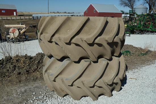 (2) Firstone 30.5L-32 tires and rims