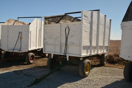 7.5'x12' steel dump wagon