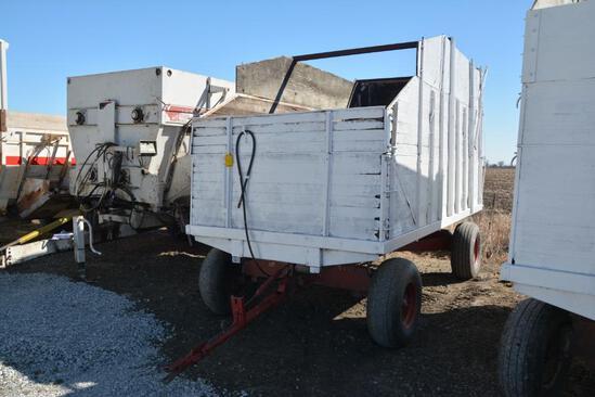 7'x12' wooden dump wagon