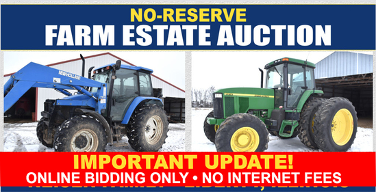 Ring 1 - No Reserve Farm Machinery Estate Auction