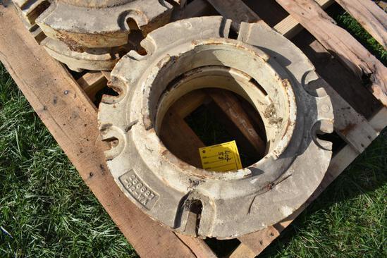 (2) AC rear wheel weights