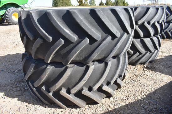 Mitas IF710/65R46 floater tires and wheels