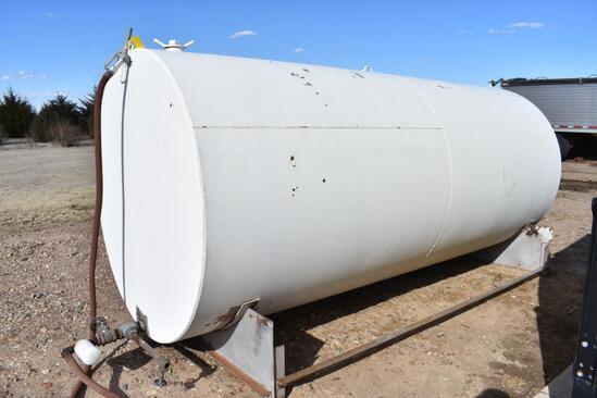 2,000 gal. steel fuel tank