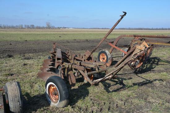 4-bottom pull-type plow