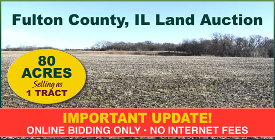 Fulton County, IL Land Auction - Ridle