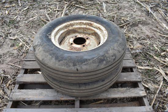(2) 7.50-14SL tires and 4-bolt wheels