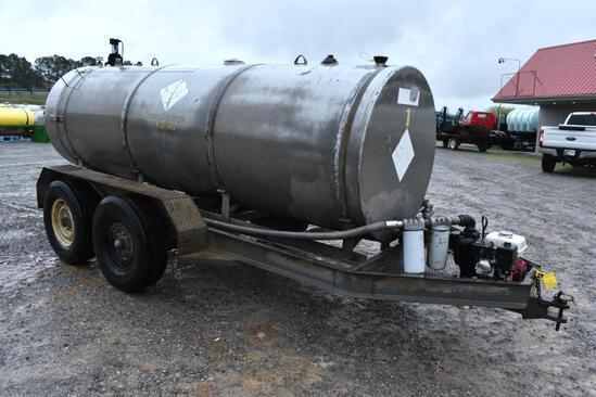 Shop built 1,000 gal. fuel trailer