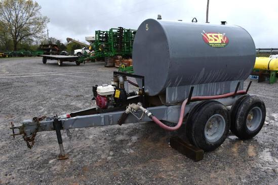 Shop built 500 gal. fuel trailer