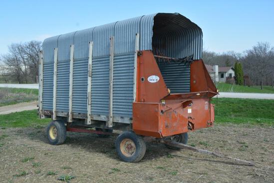 Rex 14' silage wagon on Rex gear