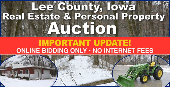 Ring 1 - Lee County, IA Land & Personal Property