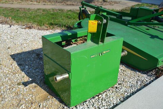 John Deere iMatch rear 3-pt. weight box
