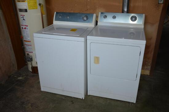 Amana HD super capacity washer and electric dryer