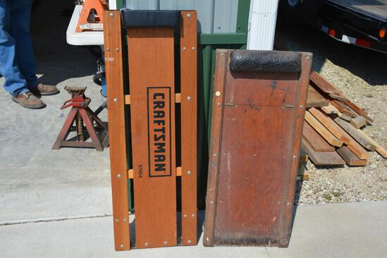 Craftsman floor creeper & older creeper