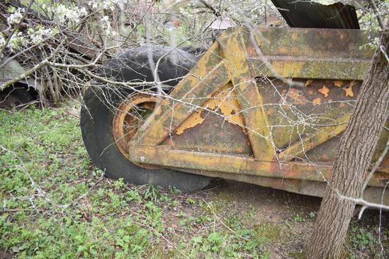Large industrial pull-type dirt scraper
