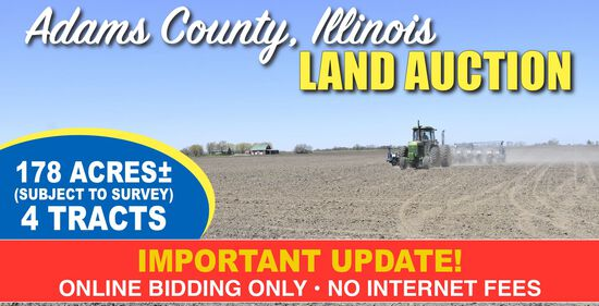 Adams County, IL Land Auction