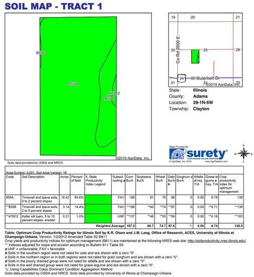 Tract 1 - 22.55 Surveyed Acres