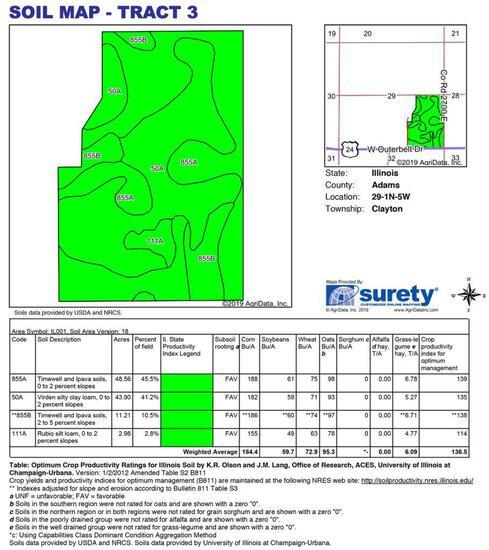Tract 3 - 105.45 Surveyed Acres