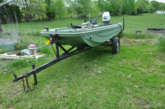 Rich Line 14' fiberglass boat
