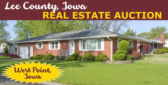 Ring 1: Lee County, IA Real Estate & Car Auction