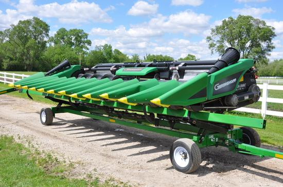 "2018 Geringhoff RotoDisc Elite XL RD1200B 12 row 20"" corn head"