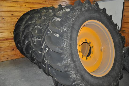 Flotation tires & rims for Hagie sprayer